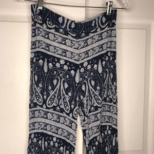 Blue/white patterned wide leg pants from Windsor
